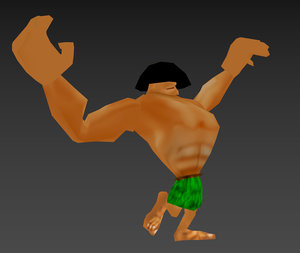 buff chongo rig 3D model