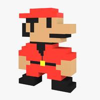 parody 8-bit character 3D model