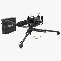 3D m134 minigun tripod mounted