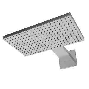 3D overhead wall shower
