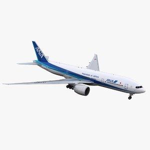 777-200 ana 3D model