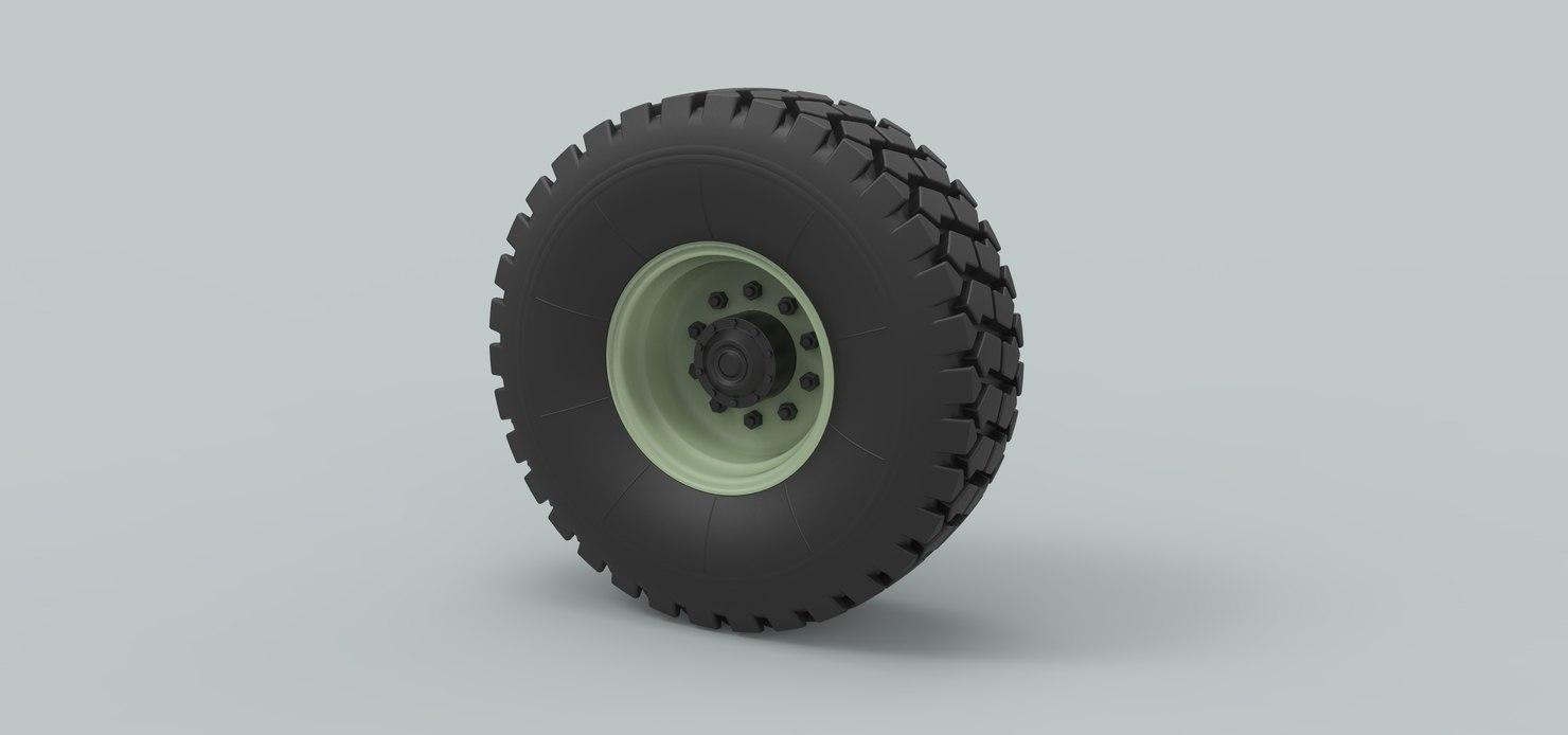 3D wheel truck offroad model