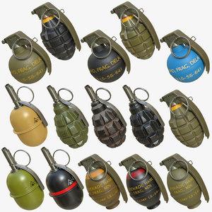 3D grenades pack 03