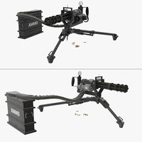 3D model m134 minigun tripod mounted