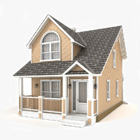 two-story cottage 48 3D model