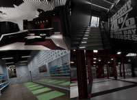 fitness club interior model