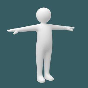 baby stickman body character model