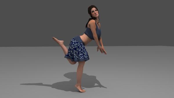 girl skurt 3D model