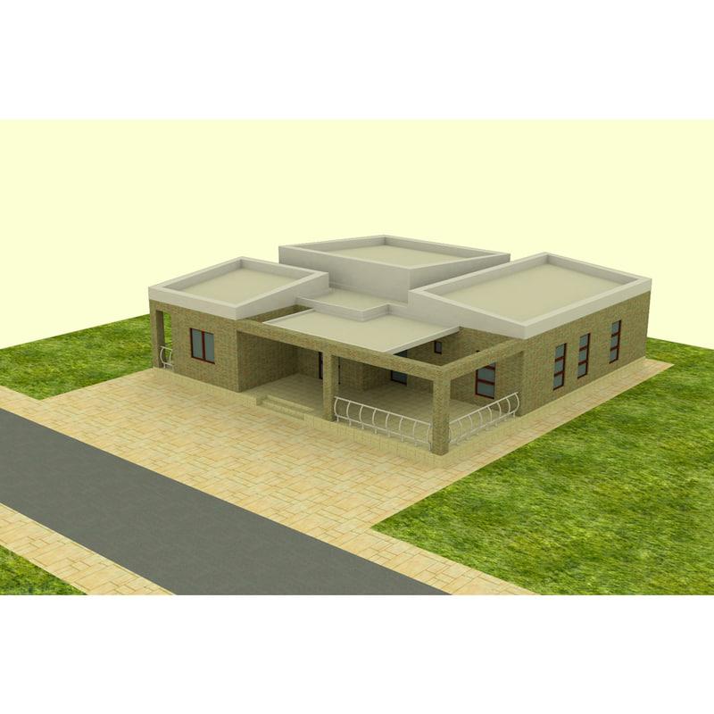 building square 3D model