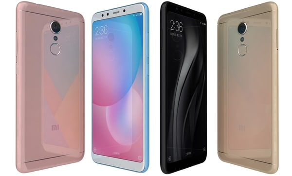 xiaomi redmi 5 colors 3D model