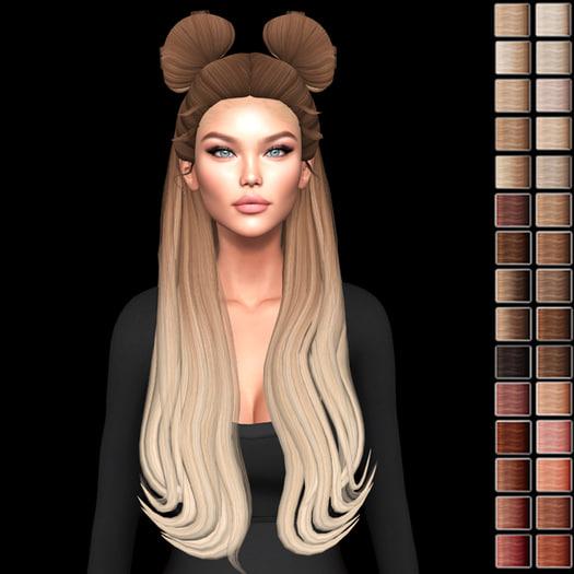 3D model dae hair