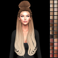 3D hairstyle blonde