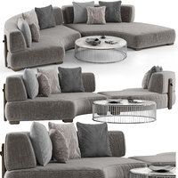 3D minotti florida sofa set
