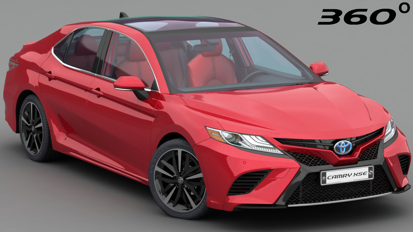 3D toyota camry xse 2018 model