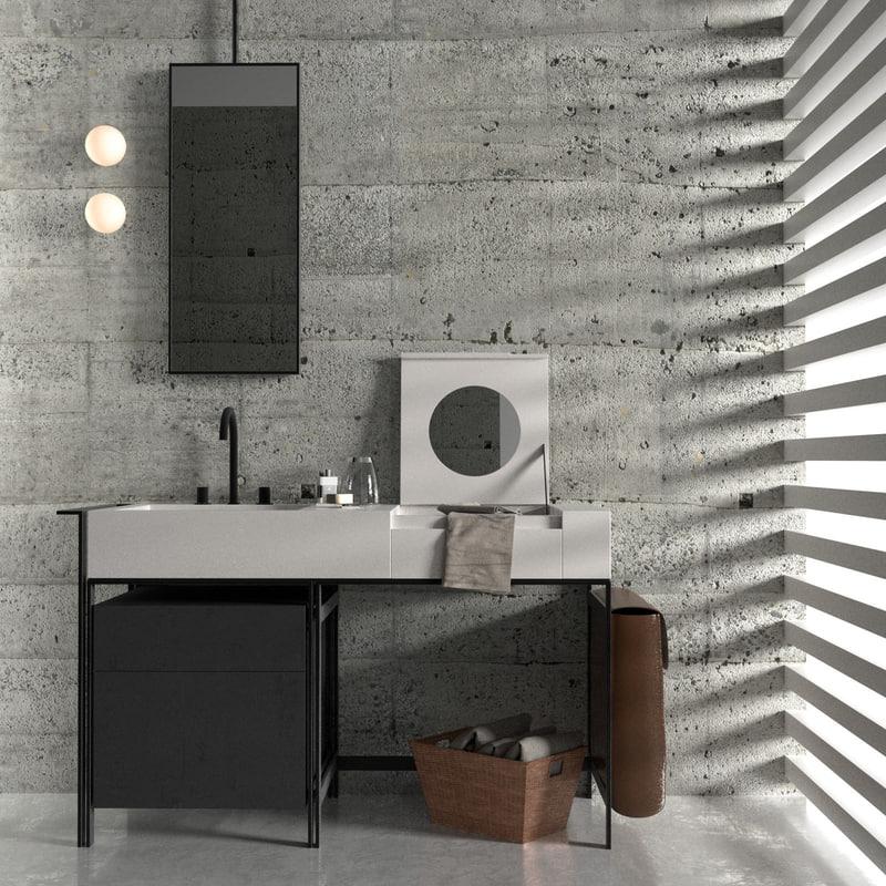 3D narciso bathroom furniture