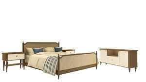 bed vienne upholstered 3D model
