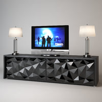 fendi cabinet royal diamond 3d max