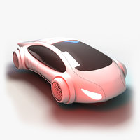 futuristic transport vehicle 3D model