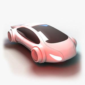 futuristic transport vehicle 3D model