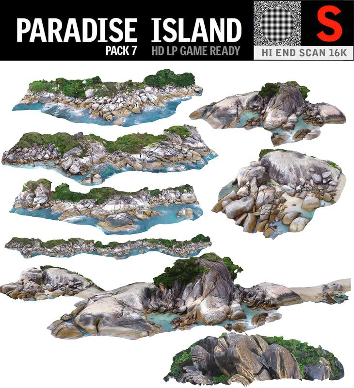 3D paradise island pack 7 model