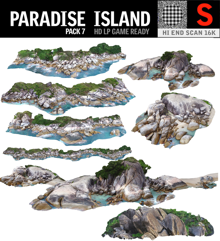 3D paradise island pack 7 model