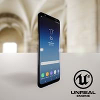 3D samsung s8 black model
