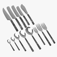 rangthong flatware cutlery 3D model