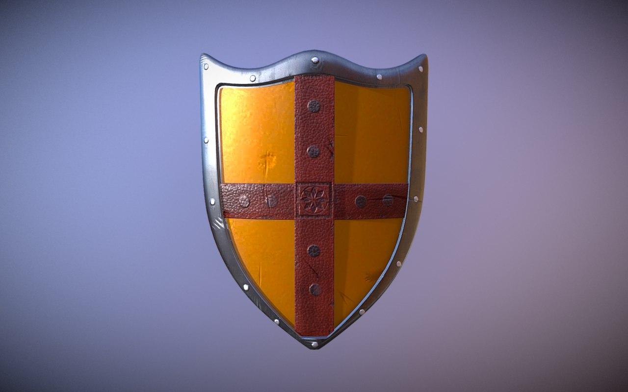 medieval knight shield model