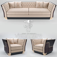 Berry Capitone sofa and armchair