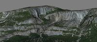 mesh yosemite falls 3D model
