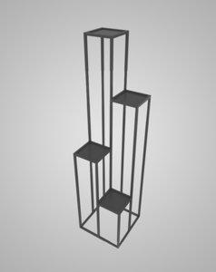 shelf metal 3D model
