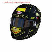 3D model norris daytona helmet