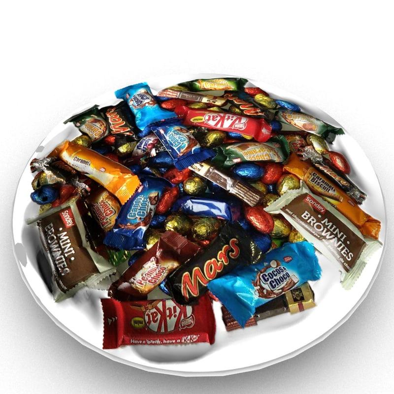 3D bowl sweets model