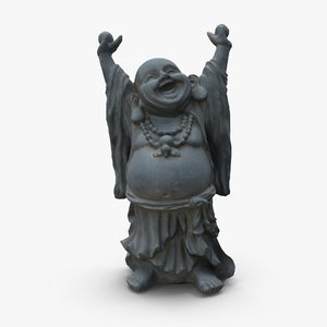 laughing buddha statue 3d model