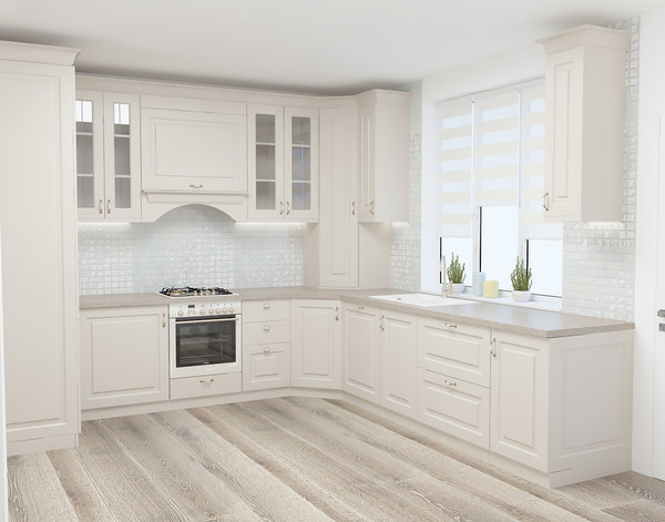 3D warm cappuccino kitchen model