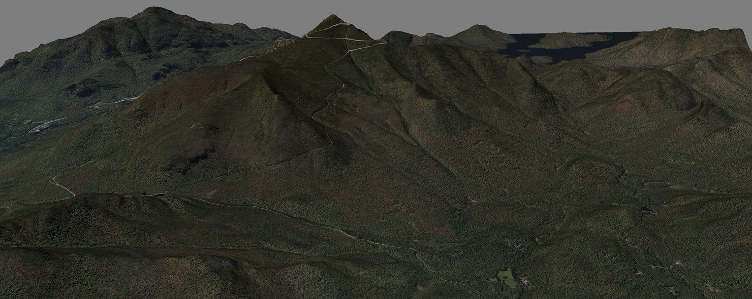 3D model whiteface mountain