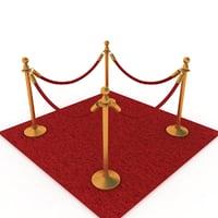 carpet stanchion model