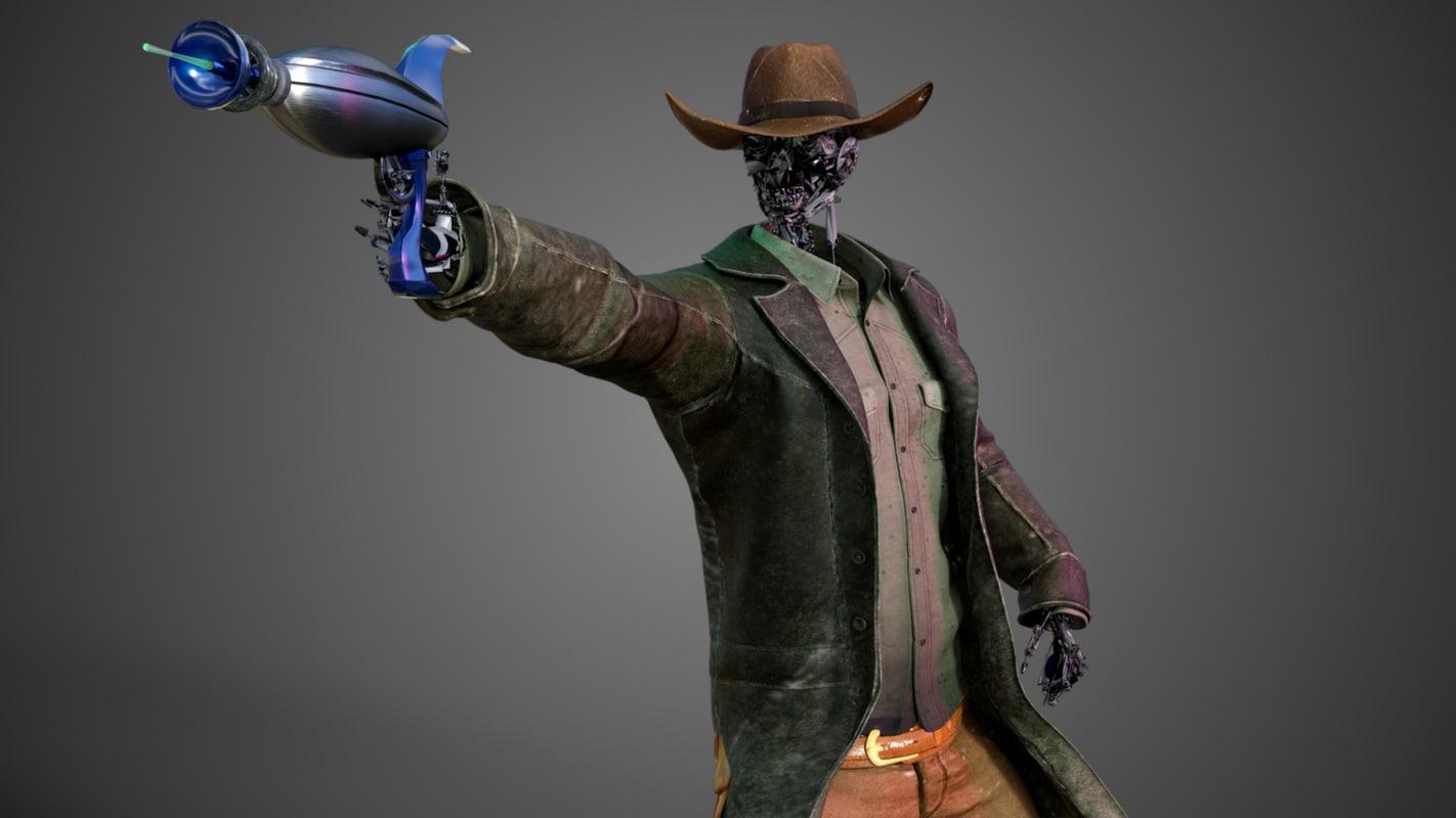 robot cowboy 3D model