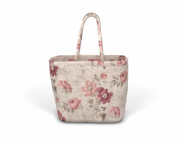 3D designer shopping bag - model