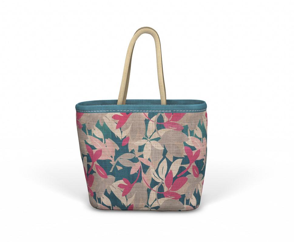 designer shopping bag - 3D
