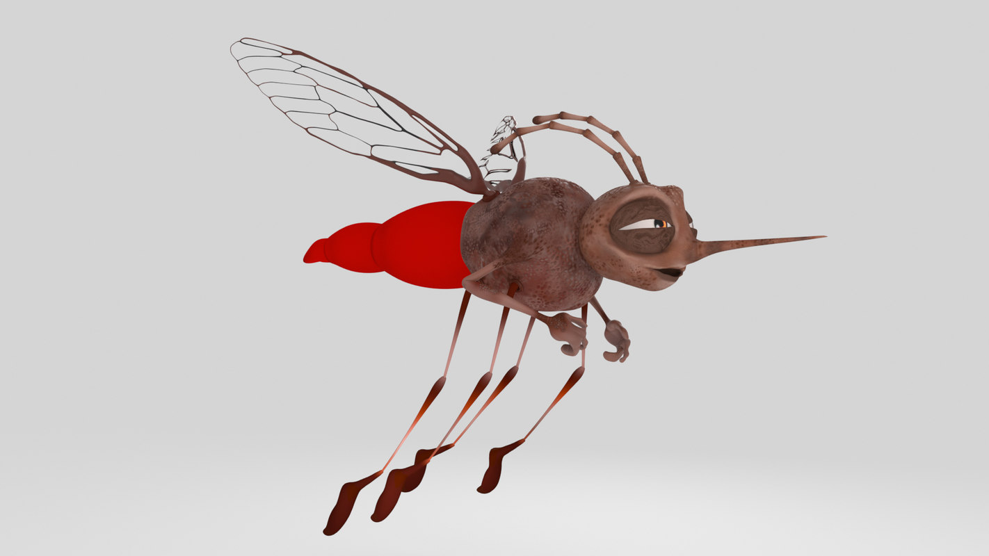 3D cartoon mosquito