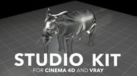 Studio kit for Cinema 4d and VRAY