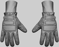 gloves army model