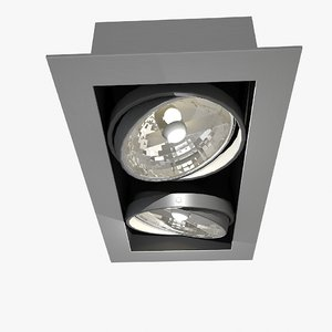 double point ceiling light 3D