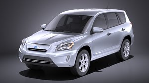 3D toyota rav4 rav model