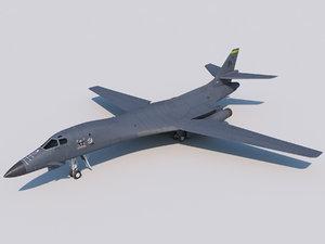 3D model bomber rockwell l
