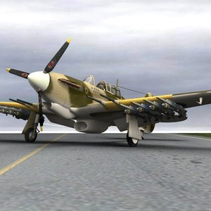 aircraft hurricane mk iic 3D