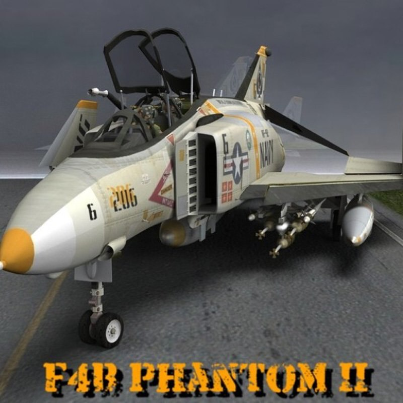 phantom f4b 3D model
