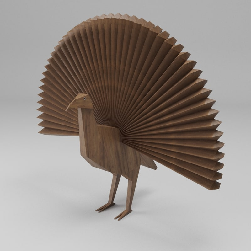 woody peacock 3D