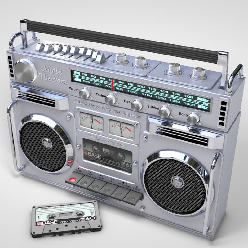 boombox cassette 3D model